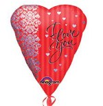 Big Heart I Love You Balloon, Orange County Delivery