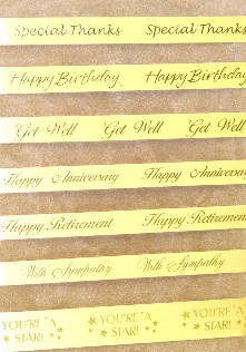 themed ribbons